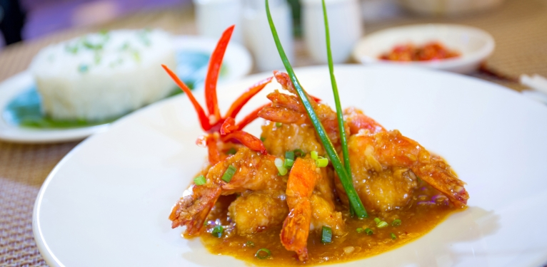 Stir-fried-prawn-and-sweet-sour-sauce